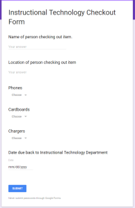 Google Expeditions Checkout Form