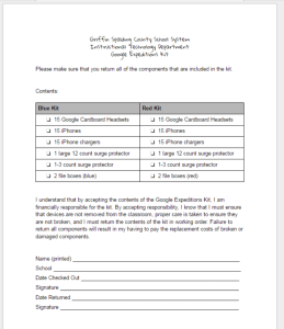 Google Expeditions Teacher Agreement